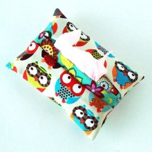 Tissue case-Colorful Owls