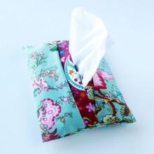 Light blue Japanese design- Tissue holder