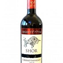 בקבוק יין יקב שילה- שור- קברנה סוביניון