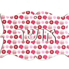 שלט מילים בעברית אושר כפתורים