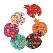 Pomegranate coasters & hot plate