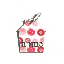מחזיק מפתחות מעוצב בדוגמת כפתורים-home