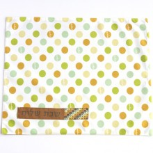 Challah cover, Green Circles