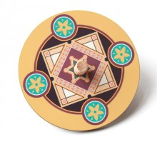 Dreidel-Mustard with star of david