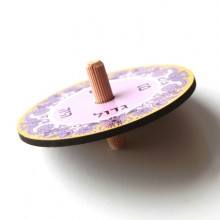 Dreidel-Purple & Musterd spinning top