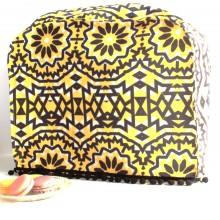 כיסוי מעוצב למיקסר פרחים שחור,צהוב, לבן
