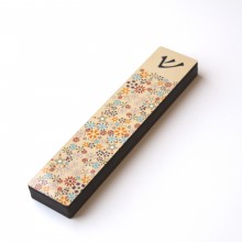 XL Mezuzah case-Flowers-Peach