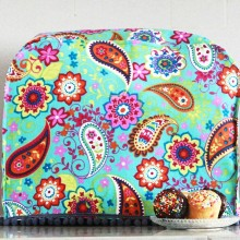 Turquoise paisley mixer cover