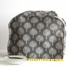 Mixer cover dark gray with white trees
