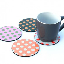 4 Dotted Coasters