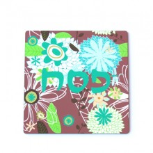 Hot plate, trivet- Purple with flowers