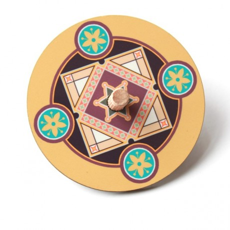 Dreidel-Mustard with star of david