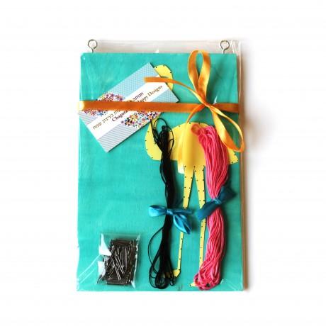 ערכת יצירה פלמינגו חוטים ומסמרים, מתנה נהדרת לילדים