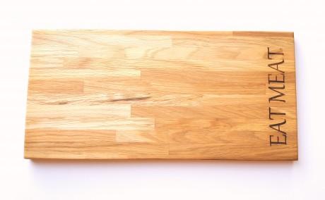 קרש מעוצב לחיתוך בשר, עשוי עץ אלון בוצ'ר