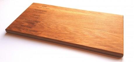 קרש מעוצב לחיתוך בשר, עשוי עץ אלון
