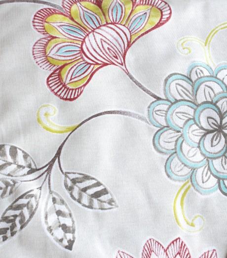 כיסוי מעוצב לפלטת שבת, שמנת ופרחים גדולים