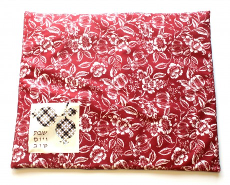Platta cover-Red and White flowers