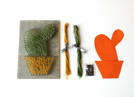 Cactus DIY string art kit