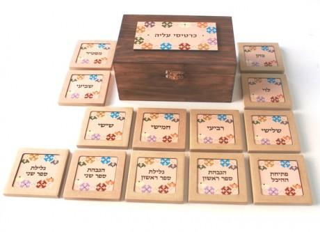 Torah reading cards-Peach & colors